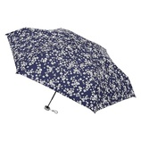 エスタ(estaa) 3秒でたためる 折りたたみ傘 5段ミニ 晴雨兼用 花柄 ネイビーブルー│レインウェア・雨具 折り畳み傘