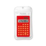 アスミックス(ASMIX) ポケット カラー電卓 C1237 レッド