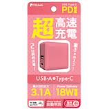 イツワ(ITSUWA) PD18W対応USB充電器 MCAC2002 ピンク│携帯・スマホアクセサリー モバイルバッテリー・携帯充電器