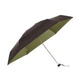 マブ(mabu) 晴雨兼用100%遮光ハンディミニ forMEN SMV-41072 ノワール×カーキ│レインウェア・雨具 折り畳み傘