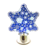 【クリスマス】 フラッシングライト ブルースノーフレーク