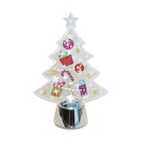 【クリスマス】 フラッシングライト クリアツリー シルバー