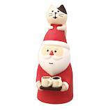 【クリスマス】 デコレ(DECOLE) concombre 猫乗せサンタ ZXS−43051