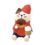 【クリスマス】 デコレ(DECOLE) concombre あじわいドーナツ猫 ZXS−43053