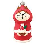 【クリスマス】 デコレ(DECOLE) concombre ねこずきんサンタ ZXS−43056