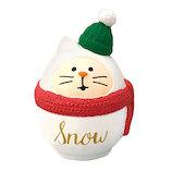 【クリスマス】 デコレ(DECOLE) concombre 雪猫だるま ZXS−43059