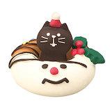 【クリスマス】 デコレ(DECOLE) concombre にゃんドーナツスノーマン ZXS−43065