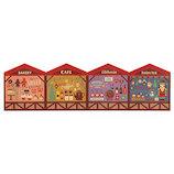 【クリスマス】 デコレ(DECOLE) concombre クリスマスマーケット背景カード ZXS−43068