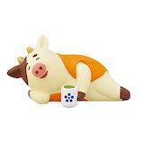 【年賀用品】 デコレ(DECOLE) 食べてすぐ寝る丑 ZSG−43712
