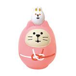 【年賀用品】 デコレ(DECOLE) concombre 開運カラー猫だるま 桃 ZCB−43949