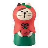 【クリスマス】 コンコンブル(concombre) ねこずきん りんご ZXS‐61146