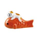 【年賀用品】 デコレ(DECOLE) concombre 福猫めで鯛箸置き トラ猫 ZCB−61267