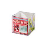 ミノル化学工業 ミノルキューブ Sサイズ クリア×クリア│展示・ディスプレイ用品