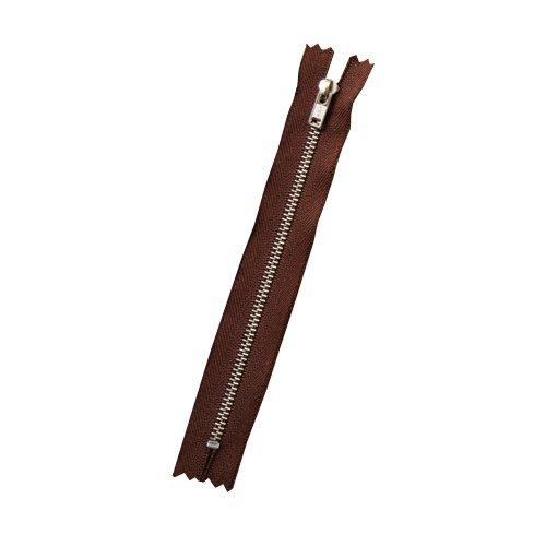 クラフト社 ファスナー12cm 茶 8783‐02