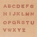 アルファベット刻印セット 1/4インチ 28490