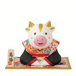 【年賀用品】 石川紙業 干支丑和紙貼福助 21100