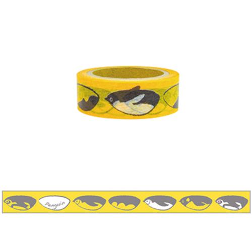 umimikke(うみみっけ) デコレーションテープ 幅15mm ペンギン