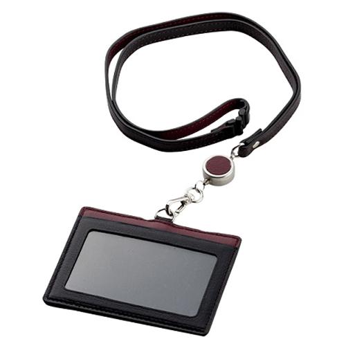 ブレイリオ ヤクレザー IDカードケース 203-15 ブラック×ワイン│財布・名刺入れ パスケース