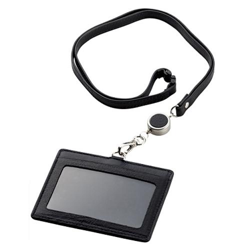 ブレイリオ ヤクレザー IDカードケース 203-17 ブラック×ネイビー│名札・カードホルダー 名札ケース・IDカードケース