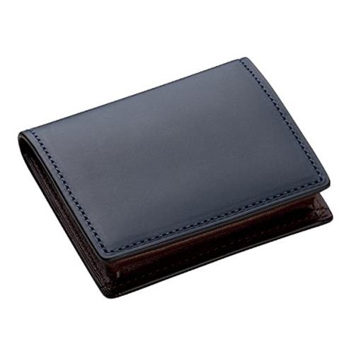 ブレイリオ ブライドルレザー BOX型 小銭入れ 232-70 ネイビー│財布・名刺入れ 小銭入れ