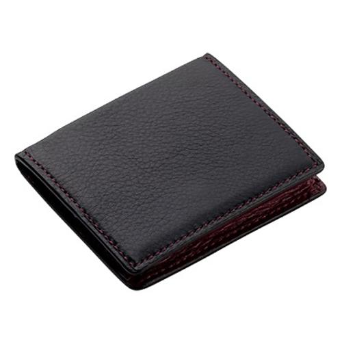 ブレイリオ ヤクレザー BOX型 小銭入れ 237-15 ブラック×ワイン│財布・名刺入れ 小銭入れ