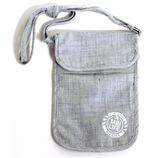 タビライフ 旅貴重品袋 ネックポーチ グレー