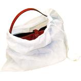 東京科学 不織布バッグ収納袋 S 巾着型 白│ハンガー・衣類収納 衣類圧縮袋・収納袋