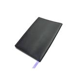 ASHFORD ビバーチェ ブックカバー 文庫サイズ 8093−178 ブラック×パープル