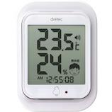 ドリテック デジタル温湿度計 ルーモ O-293 ホワイト│温度計・湿度計