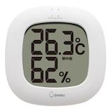 ドリテック(DRETEC) デジタル温湿度計 ルミール O295WT ホワイト│温度計・湿度計
