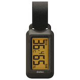 ドリテック(DRETEC) ポータブル温湿度計 ブライン O291 ブラック│温度計・湿度計