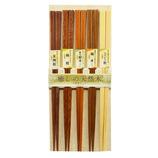 天然木 癒しのお箸 5膳セット