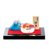 【年賀用品】 プリーズ 干支硝子 宝丑と富士山 ETB‐05