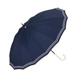 w.p.c 晴雨兼用雨傘 長傘 16本骨マリン 3017−06 ネイビー