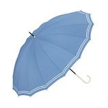 w.p.c 晴雨兼用雨傘 長傘 16本骨マリン 3017−06 ブルー