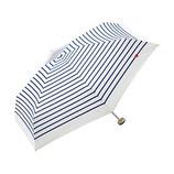 w.p.c 晴雨兼用雨傘 折りたたみ傘 ハート刺繍ボーダーmini 302−126 オフ