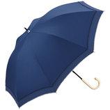 w.p.c 晴雨兼用日傘 長傘 遮光リブドットピコレース 81−6289 ネイビー