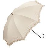 w.p.c 晴雨兼用日傘 長傘 遮光クラシックフリル 81−1349 ベージュ