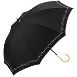 w.p.c 晴雨兼用日傘 長傘 遮光プチフラワー刺繍 81−6229 ブラック