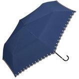 w.p.c 晴雨兼用日傘 折りたたみ傘 遮光星柄スカラップmini 801−972 ネイビー