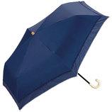 w.p.c 晴雨兼用日傘 折りたたみ傘 遮光リブドットピコレースmini 801−628 ネイビー