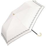 w.p.c 晴雨兼用日傘 折りたたみ傘 遮光プチフラワー刺繍mini