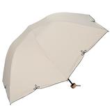 w.p.c 晴雨兼用 折りたたみ日傘 バードゲイジワイドスカラ 801−656 ベージュ
