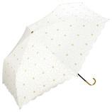 w.p.c 日傘 折りたたみ傘 マーガレットレース ミニ 801−278OF オフホワイト