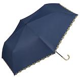 Wpc. 遮光フローラルスカラップ mini 801-9724 ネイビー│レインウェア・雨具 日傘