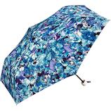 w.p.c×plantica 折りたたみ傘 フラワーアンブレラ ミニ PL001−249 ブルー