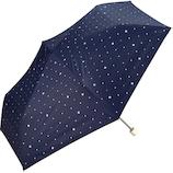 w.p.c 日傘 折りたたみ傘 遮光スタースタッズmini 801−2867 ネイビー