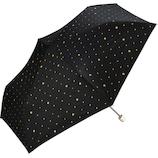 w.p.c 日傘 折りたたみ傘 遮光スタースタッズmini 801−2867 ブラック