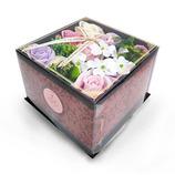 Q−FLA バスフレグランス バロック柄BOXアレンジ PK 773235 ピンク│リラックス・癒しグッズ 入浴料