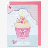 EASE(イーズ) バースデーカード GB1927 ピンクのカップケーキ│カード・ポストカード バースデー・誕生日カード
